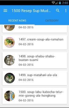 1500 Resep Sup Nusantara Enak screenshot 5