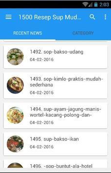 1500 Resep Sup Nusantara Enak screenshot 6