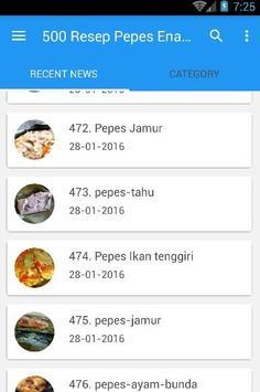 500 Resep Pepes Enak Nusantara screenshot 1