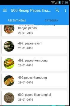 500 Resep Pepes Enak Nusantara screenshot 6