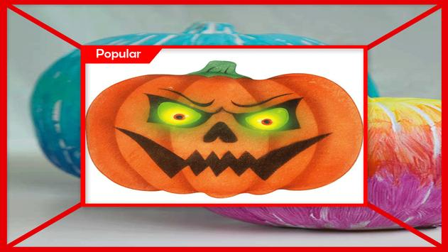 Scary Painted Pumpkin Faces Tutorials تصوير الشاشة 3