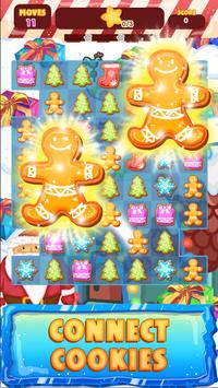 Match 3 - Santa's Helpers: Connect Cookies poster