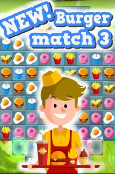 Match 3 : Burger And Soda screenshot 4