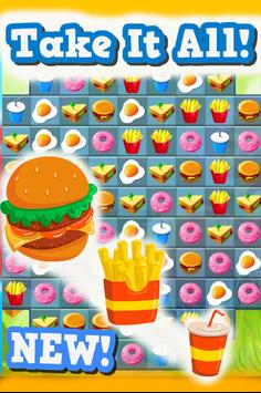 Match 3 : Burger And Soda screenshot 6