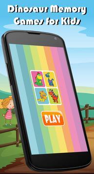 Dinosaur Memory Games for Kids poster