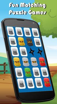Ninja Match Memory Games Kids screenshot 1