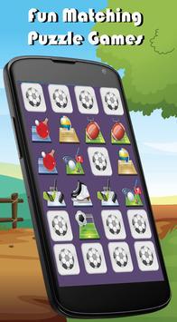 Sports Match Memory Games Kids apk screenshot