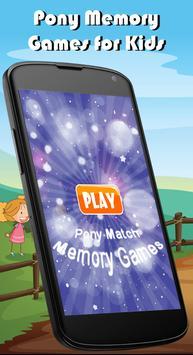 Pony Match Memory Games Kids poster