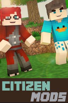 Citizen Mods For MinecraftPE poster