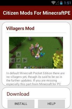 Citizen Mods For MinecraftPE screenshot 10