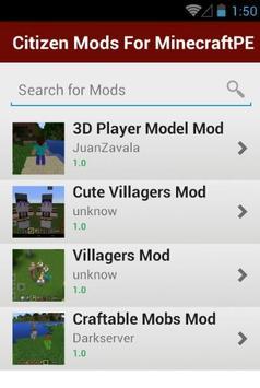 Citizen Mods For MinecraftPE screenshot 1