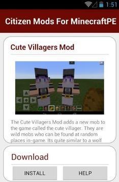 Citizen Mods For MinecraftPE screenshot 21