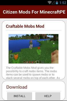 Citizen Mods For MinecraftPE screenshot 5