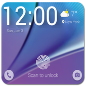 Fingerprint Prank Lock Note 5 icon