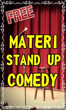 Materi stand up comedy poster