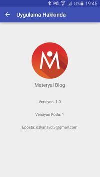 Materyal Blog Uygulaması screenshot 7
