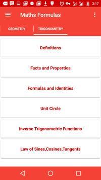 Mathematical Formulae Offline screenshot 5