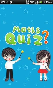 Maths Quiz poster