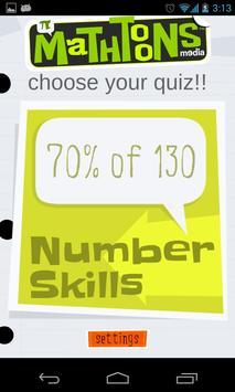 Number Skillz poster