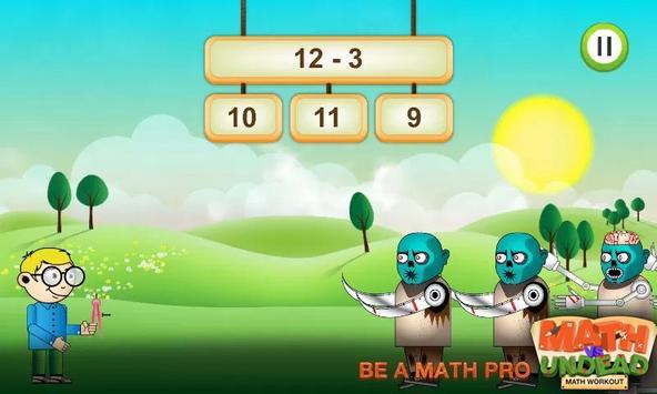 Math vs. Undead: Math Workout poster