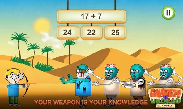 Math vs. Undead: Math Workout apk screenshot