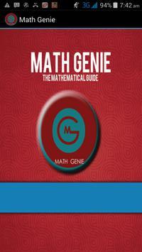 Math Genie poster