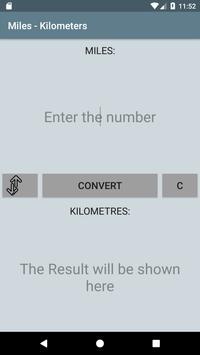 Miles - Kilometers apk screenshot