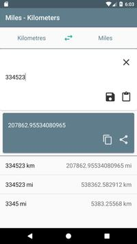 Miles - Kilometers screenshot 2