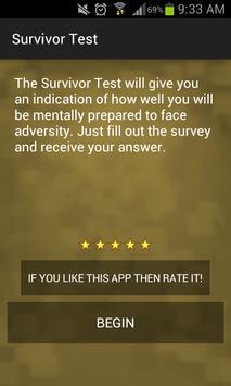 Survivor Personality Test poster