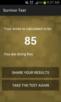 Survivor Personality Test apk screenshot