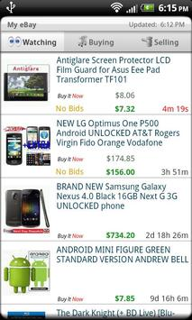 Droid Auctions for eBay apk screenshot