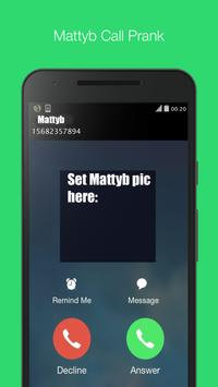 MattyB fake call prank call apk screenshot