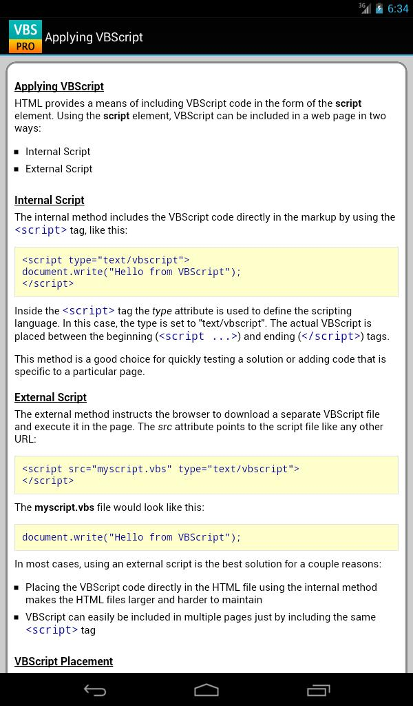 VBScript Pro Free for Android - APK Download