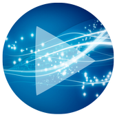 Poweramp Skin Sphere Blue icon