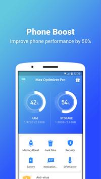 Max Optimizer Pro - easy to use & boost phone fast poster