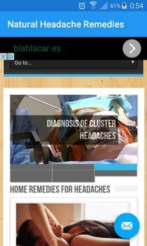 Natural Headache Remedies poster