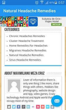 Natural Headache Remedies screenshot 7