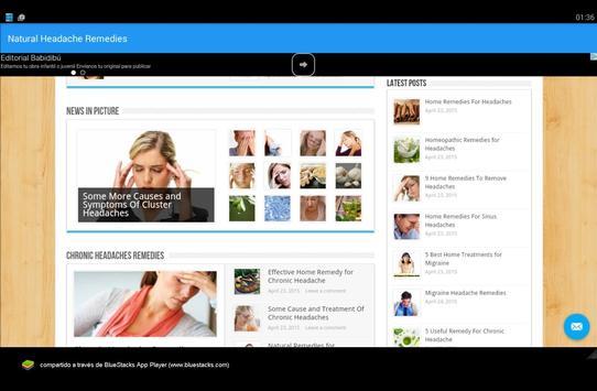 Natural Headache Remedies screenshot 9