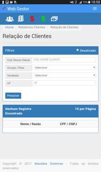 Maxdata - WebGestor screenshot 10