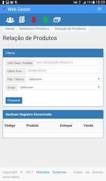 Maxdata - WebGestor screenshot 11