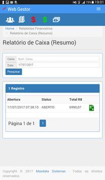 Maxdata - WebGestor screenshot 14