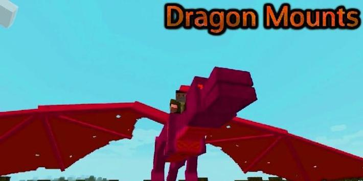 Dragon Mounts Mod for Minecraft poster