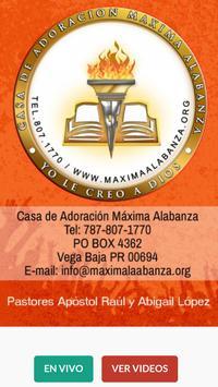 Máxima Alabanza poster