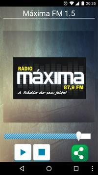 Máxima FM Itambacuri 87,9 poster