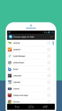 اخفاء التطبيقات والبرامج screenshot 1