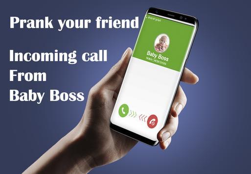 Fake Call Boss Baby Prank poster
