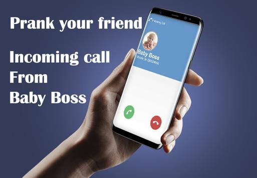 Fake Call Boss Baby Prank apk screenshot