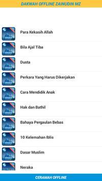 Dakwah Ceramah Zainudin MZ screenshot 1