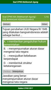 Soal CPNS Mahkamah Agung 2017 screenshot 2