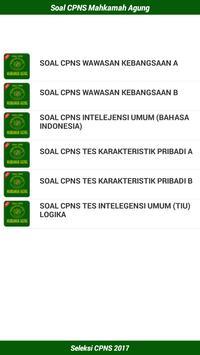 Soal CPNS Mahkamah Agung 2017 screenshot 3